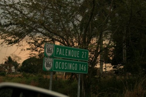 on approche de Palenque, après 7h30 de route....