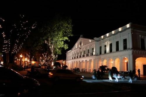 Zocalo de San Cristobal by night