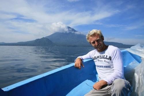 Bruno sur le Lac Atitlan :-)