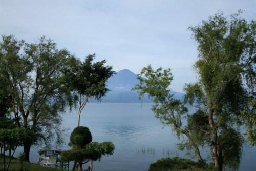 vue sur le volcan depuis la Posada Don Rodrigo