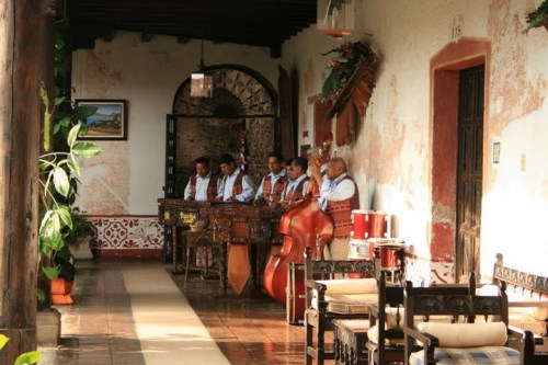 musiciens traditionnel Guatemala dans la Posada