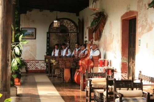musiciens traditionnel Guatemala dans la Posada