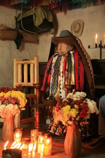 le shaman supervise les dons au Dieu