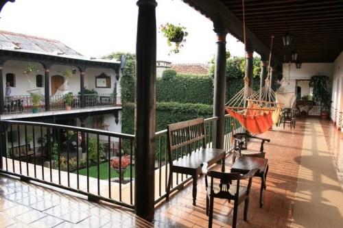 Vue depuis notre chambre de la Posada Don Rodrigo.. pas mal? ;-)