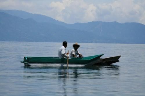 la vie quotidienne, sur le Lac Atitlan
