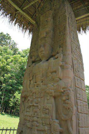 une des stèles de Quirigua