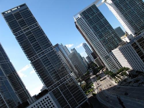 Miami downtown vue depuis l'Epic hotel